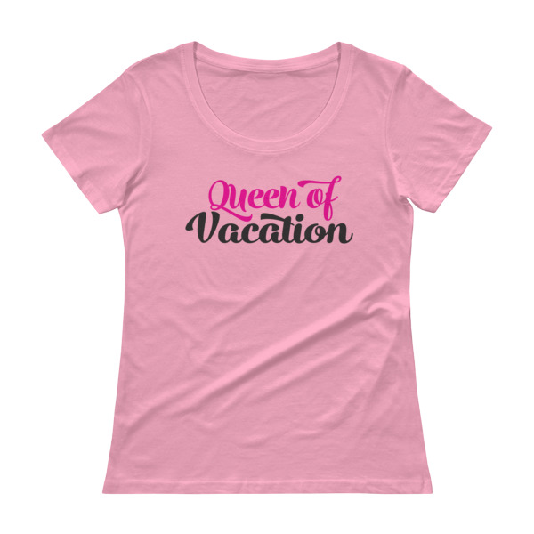 Queen of Vacation Ladies T-shirt - Caribbean Travel Queen Shop Vacation and Travel Tees Boutique