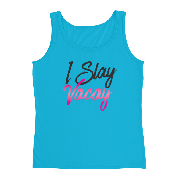 I Slay Vacay Ladies T-shirt - Caribbean Travel Queen Shop Vacation and Travel Tees Boutique