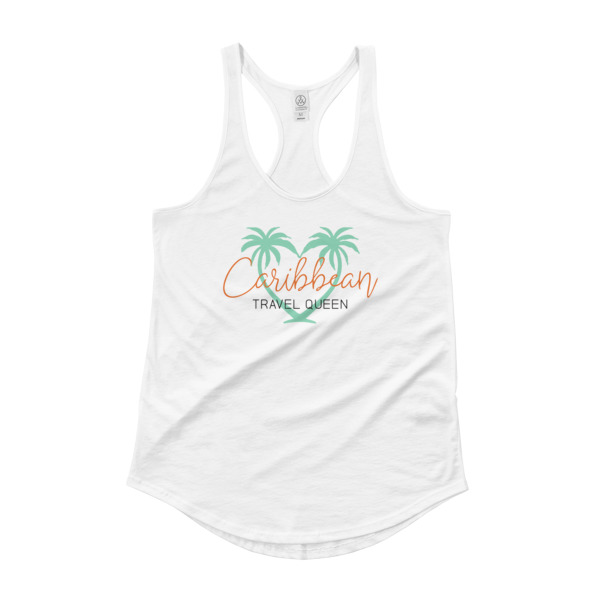 Ladies Tank Top -Caribbean Travel Queen Shop Vacation and Travel Tees Boutique