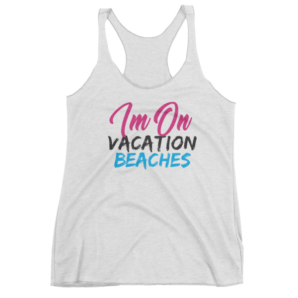 Vacation Beaches Ladies Tank Top - Caribbean Travel Queen Shop Vacation and Travel Tees Boutique