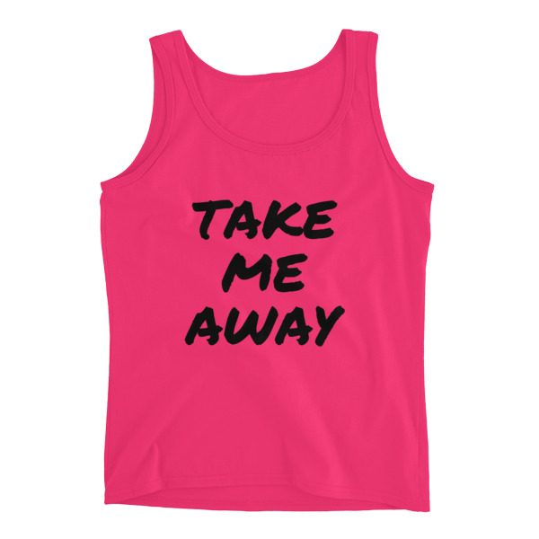 Take me away Ladies Tank Top - Caribbean Travel Queen Shop Vacation and Travel Tees Boutique