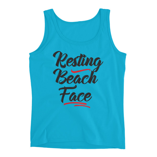 Beach Face Ladies Tank top - Caribbean Travel Queen Shop Vacation and Travel Tees Boutique